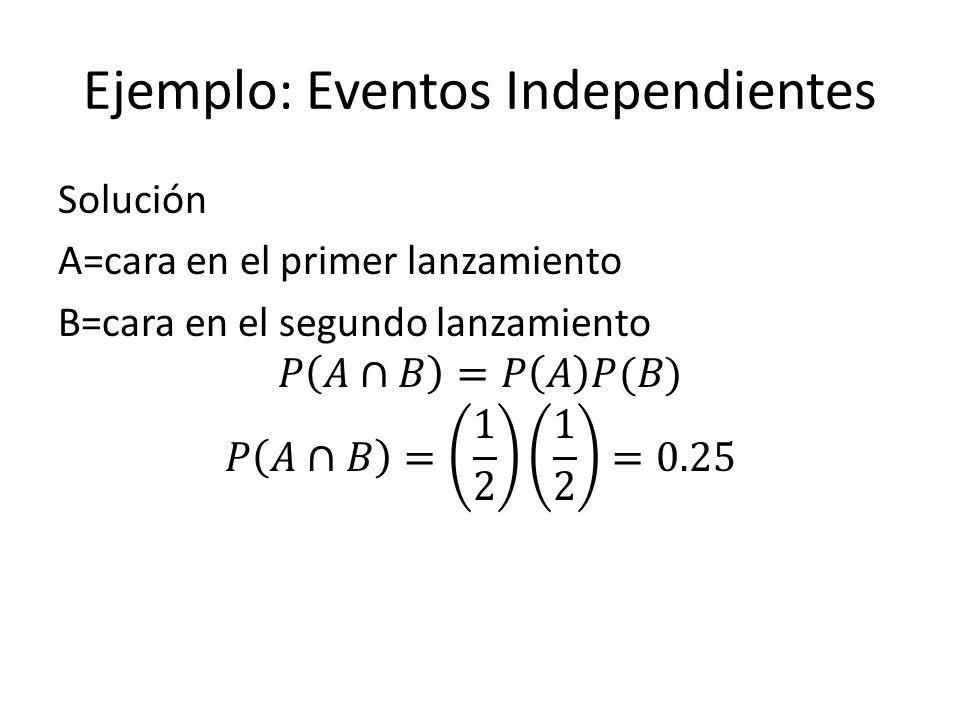 Ejemplo: Eventos Independientes