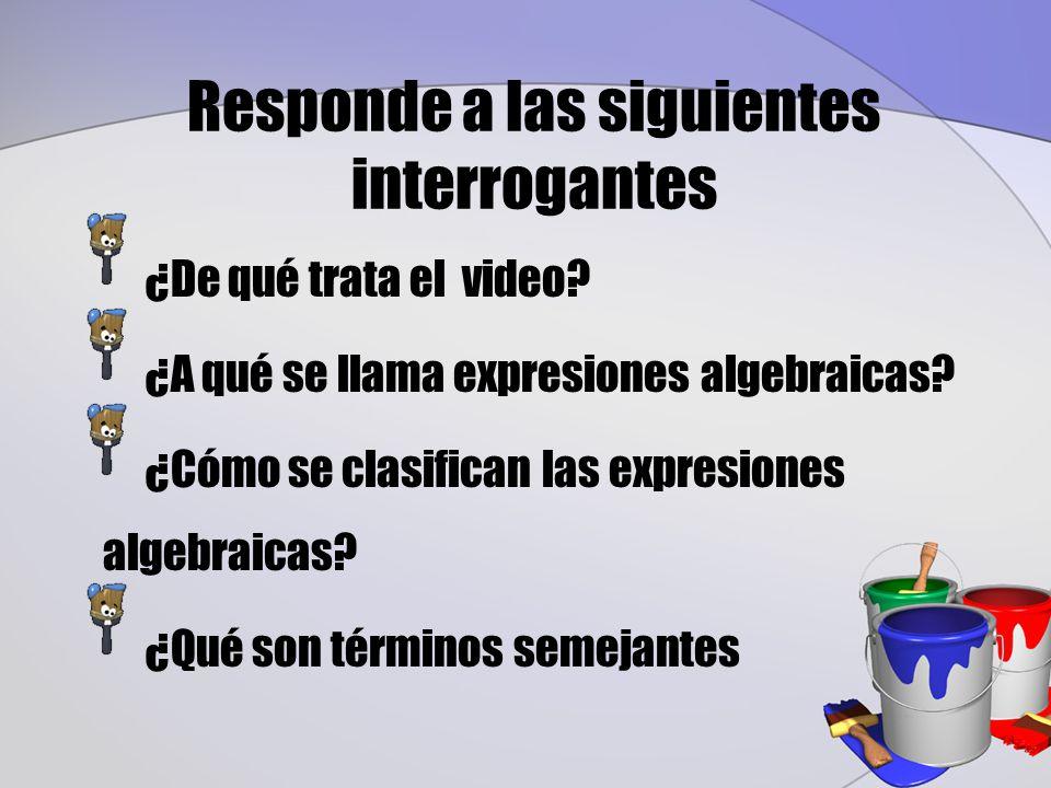 Responde a las siguientes interrogantes ¿De qué trata el video.