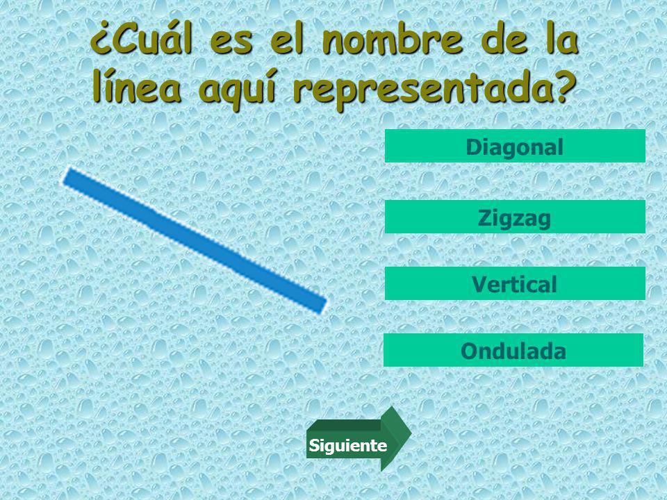 ¿Cuál es el nombre de la línea aquí representada Zigzag Diagonal Vertical Ondulada Siguiente