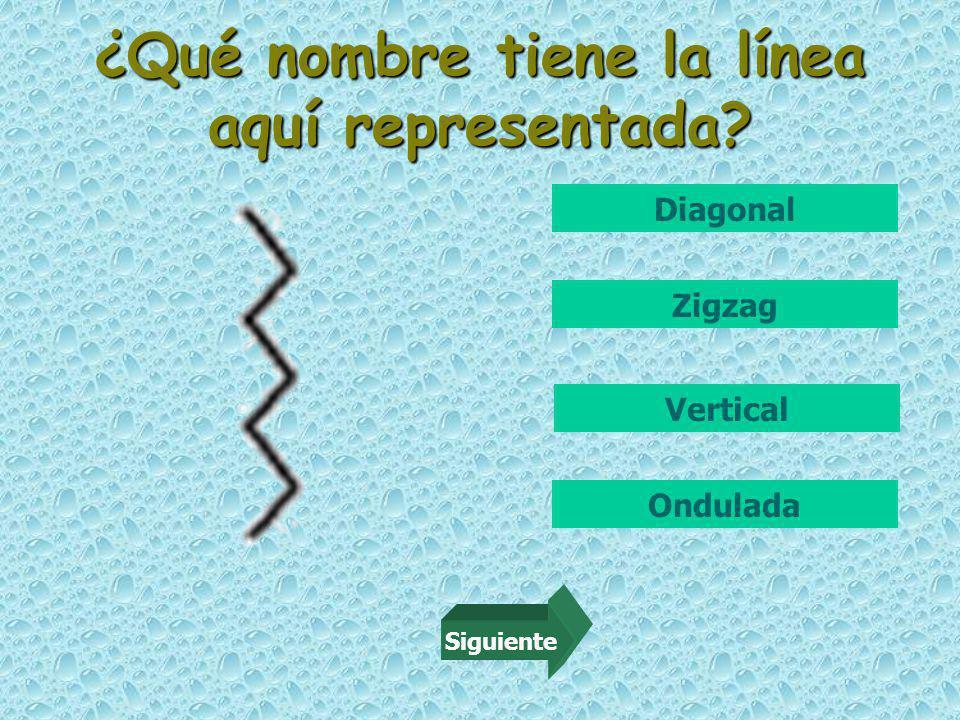 ¿Qué nombre tiene la línea aquí representada Diagonal Zigzag Vertical Ondulada Siguiente