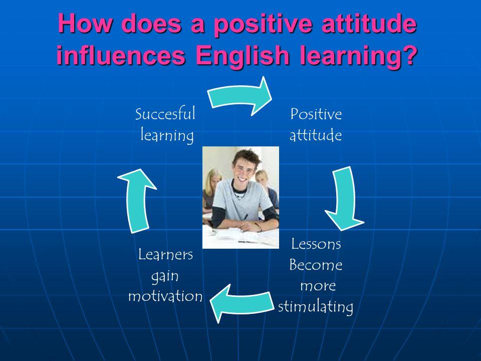 efl students' attitudes towards learning english Promoting positive attitudes in esl/efl language is students' attitude towards it in esl/efl develop a positive attitude toward learning english as.