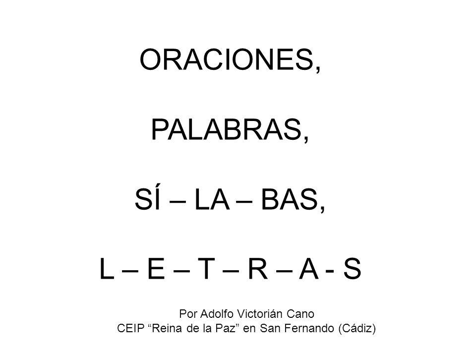 ORACIONES Son un conjunto de palabras que tiene sentido.