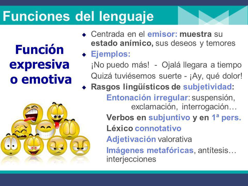 Funciones del lenguaje  Transmite una información objetiva, sin valorar ni provocar reacciones.