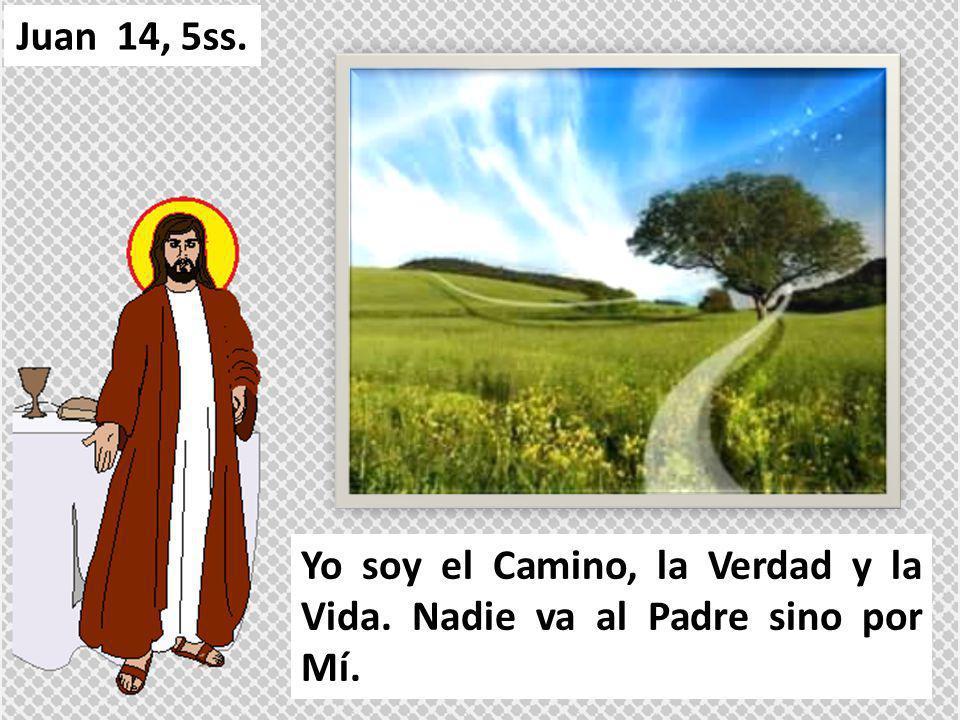 Yo soy el Camino, la Verdad y la Vida. Nadie va al Padre sino por Mí. Juan 14, 5ss.