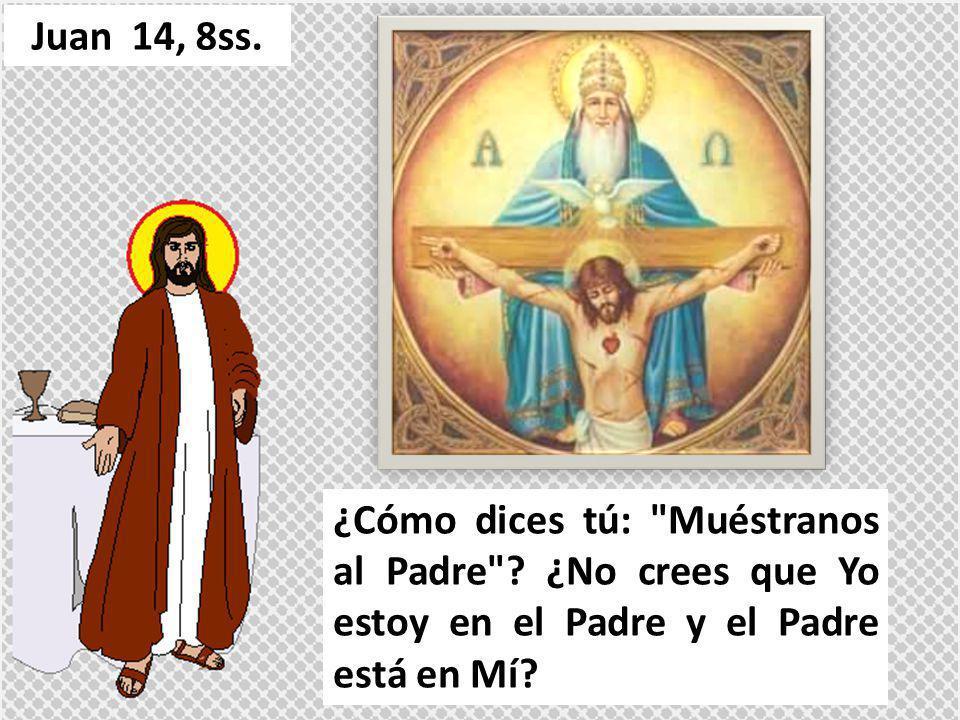 Las palabras que os digo, no las digo por mi cuenta; el Padre que permanece en Mí es el que realiza las obras.