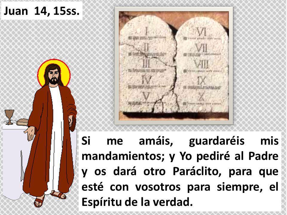 Si me amáis, guardaréis mis mandamientos; y Yo pediré al Padre y os dará otro Paráclito, para que esté con vosotros para siempre, el Espíritu de la ve
