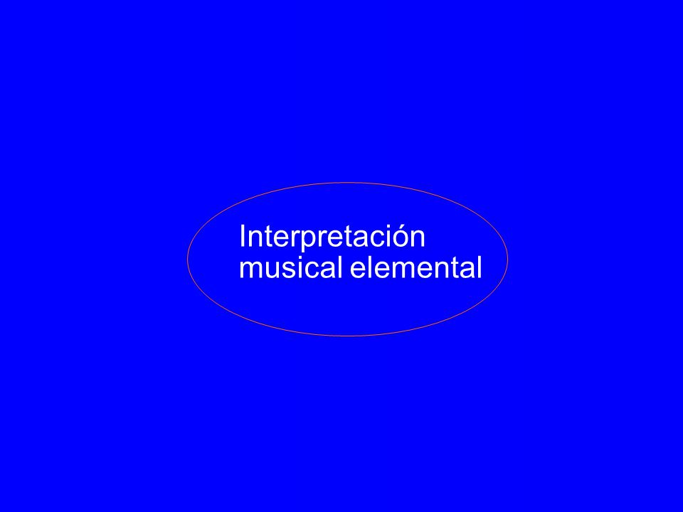 Interpretación musical elemental