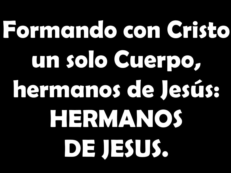 Formando con Cristo un solo Cuerpo, hermanos de Jesús: HERMANOS DE JESUS.