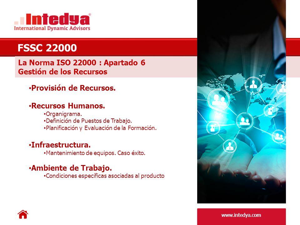 www.intedya.com La Norma ISO 22000 : Apartado 7.