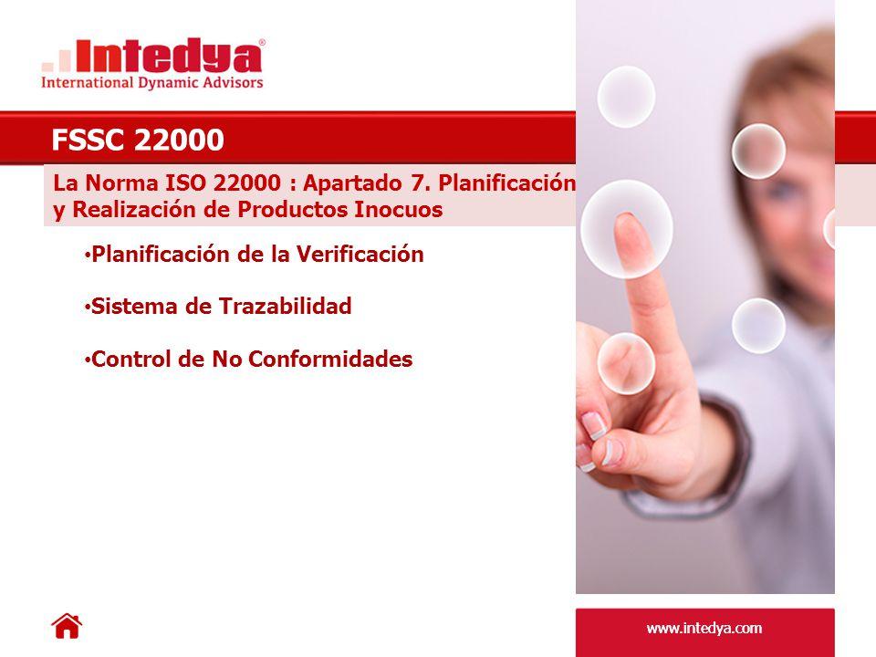 www.intedya.com La Norma ISO 22000 : Apartado 8.