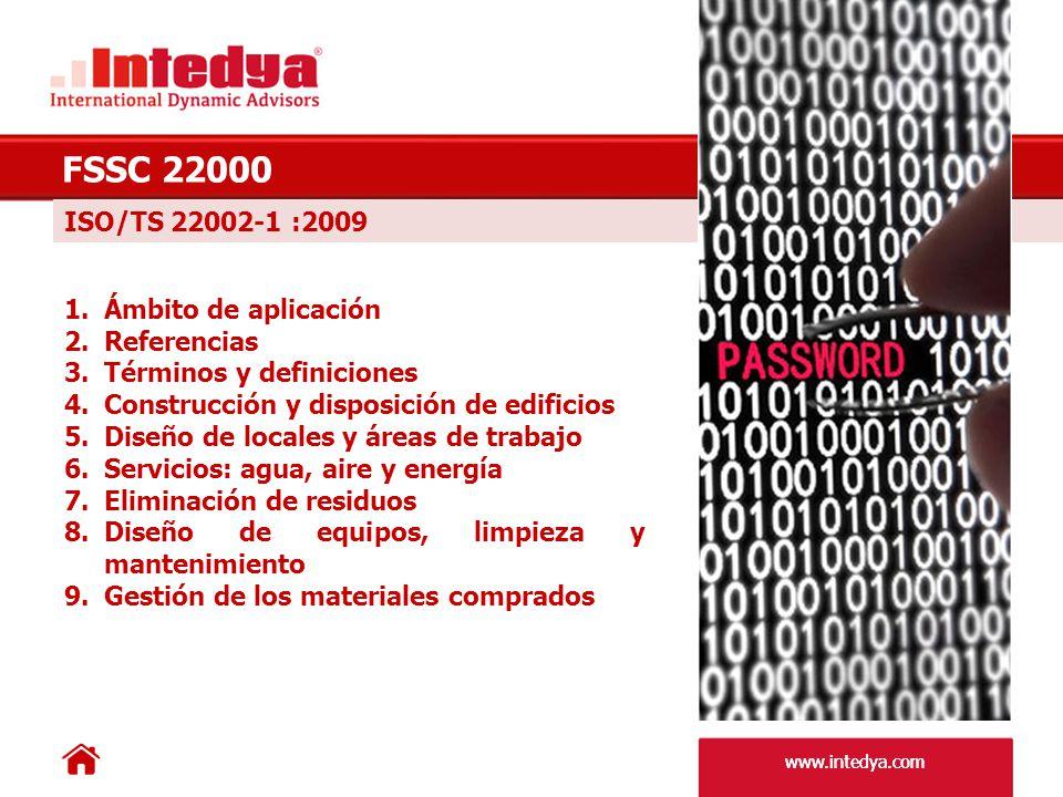 www.intedya.com FSSC 22000 10.Medidas para prevenir la contaminación cruzada 11.