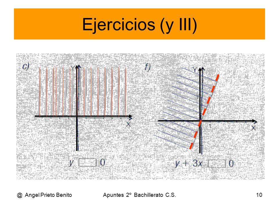 @ Angel Prieto BenitoApuntes 2º Bachillerato C.S.10 Ejercicios (y III)