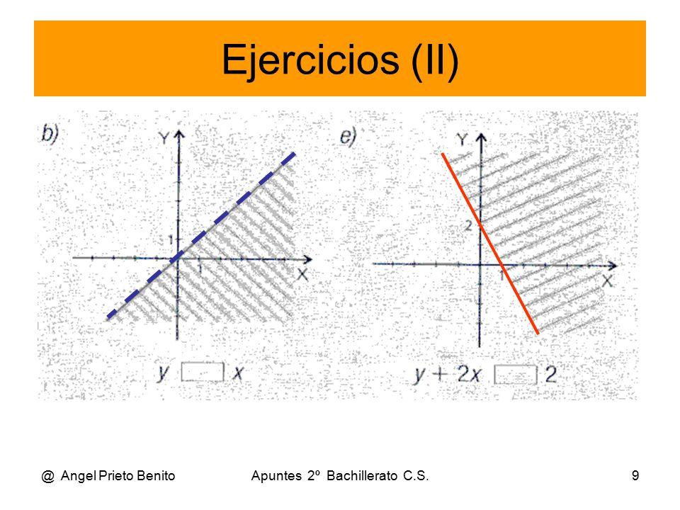 @ Angel Prieto BenitoApuntes 2º Bachillerato C.S.9 Ejercicios (II)