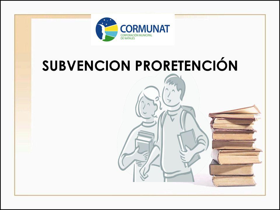 SUBVENCION PRORETENCIÓN
