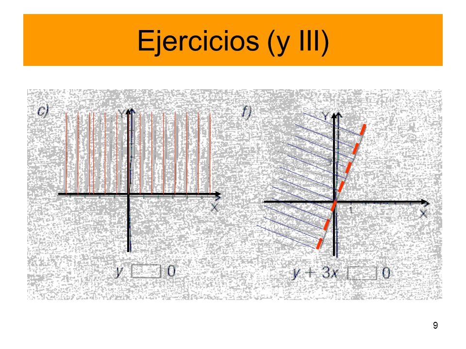 9 Ejercicios (y III)