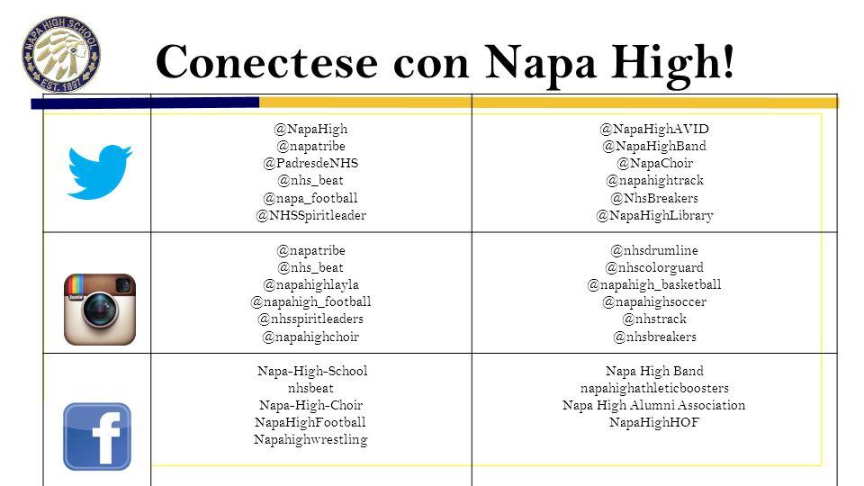 Conectese con Napa High.