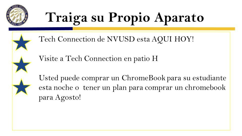 Traiga su Propio Aparato Tech Connection de NVUSD esta AQUI HOY.