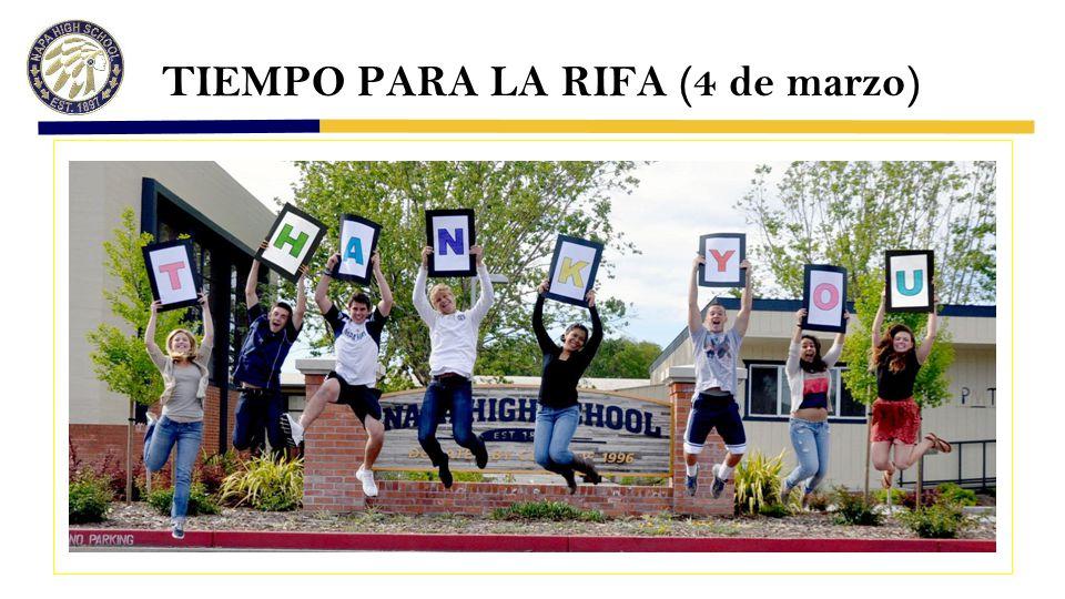 TIEMPO PARA LA RIFA (4 de marzo)