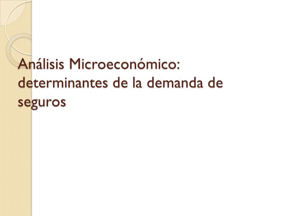 Análisis Microeconómico: determinantes de la demanda de seguros