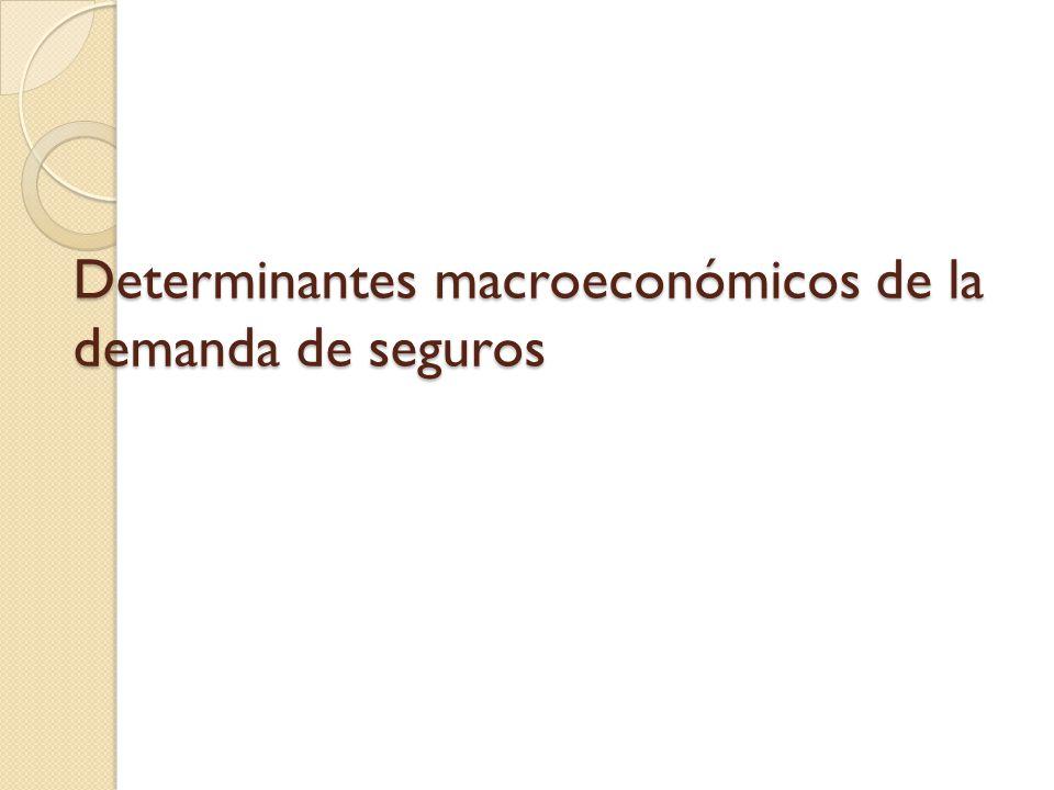Determinantes macroeconómicos de la demanda de seguros