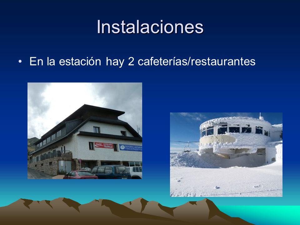 Instalaciones En la estación hay 2 cafeterías/restaurantes