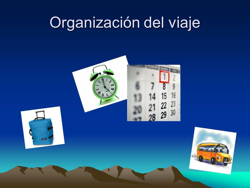 Organización del viaje