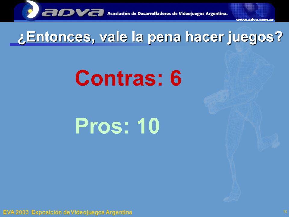 ECI 2003 Departamento de Computación – Facultad de Ciencias Exactas y Naturales – Universidad de Buenos Aires 10 ¿Entonces, vale la pena hacer juegos.