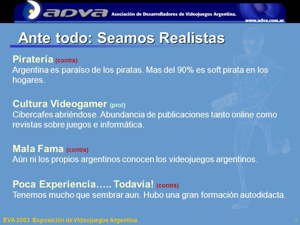 ECI 2003 Departamento de Computación – Facultad de Ciencias Exactas y Naturales – Universidad de Buenos Aires 3 Ante todo: Seamos Realistas Piratería (contra) Argentina es paraíso de los piratas.