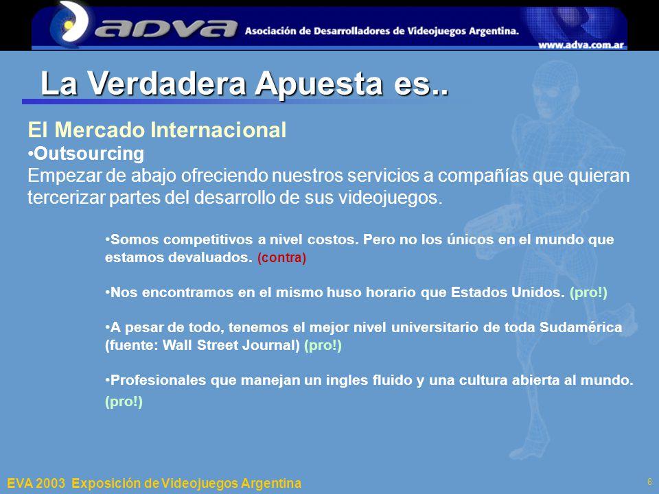 ECI 2003 Departamento de Computación – Facultad de Ciencias Exactas y Naturales – Universidad de Buenos Aires 6 La Verdadera Apuesta es..
