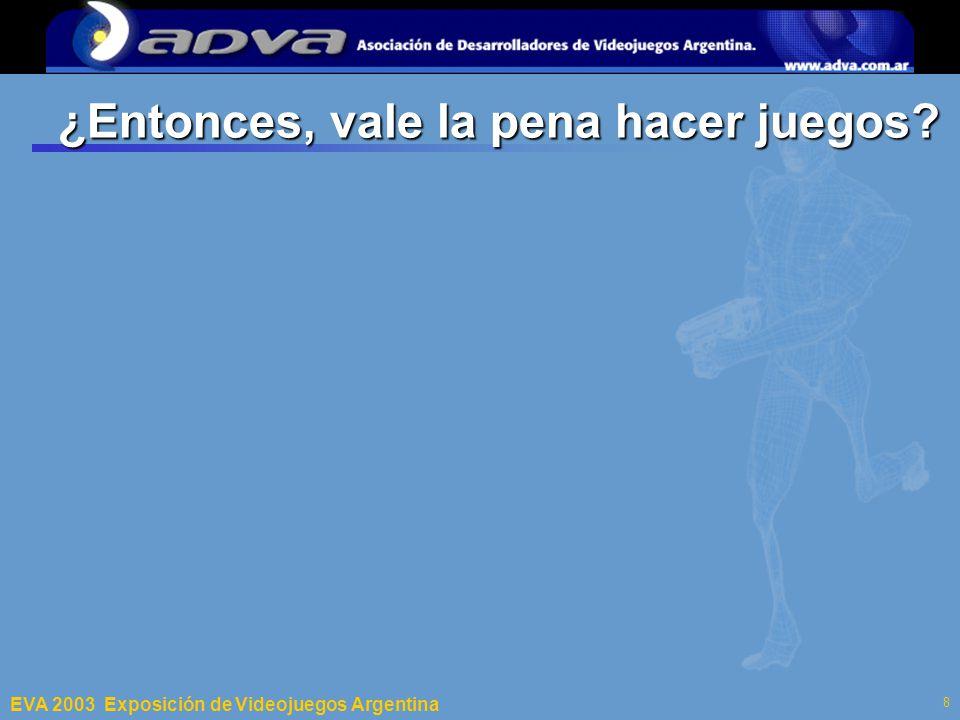 ECI 2003 Departamento de Computación – Facultad de Ciencias Exactas y Naturales – Universidad de Buenos Aires 8 ¿Entonces, vale la pena hacer juegos.