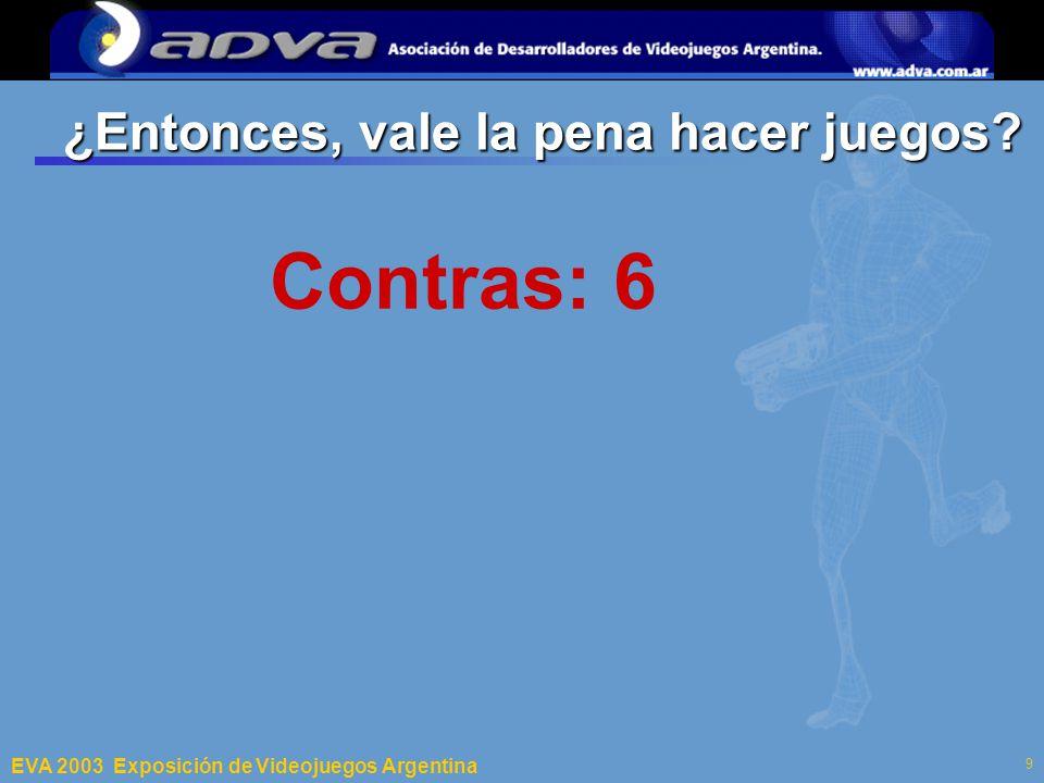 ECI 2003 Departamento de Computación – Facultad de Ciencias Exactas y Naturales – Universidad de Buenos Aires 9 ¿Entonces, vale la pena hacer juegos.