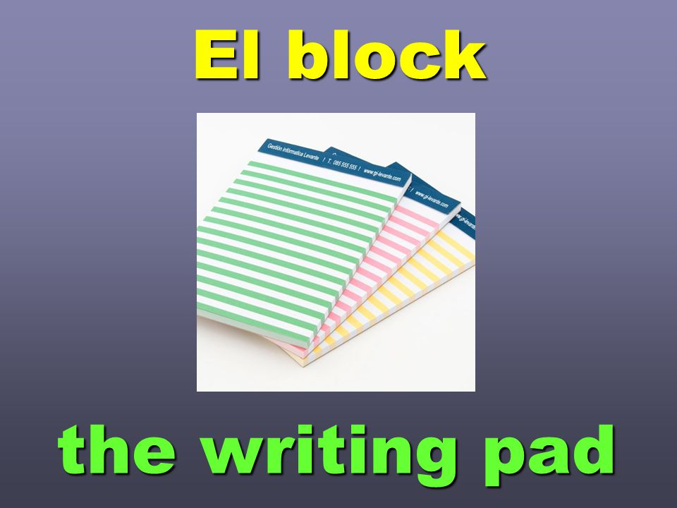 El block the writing pad
