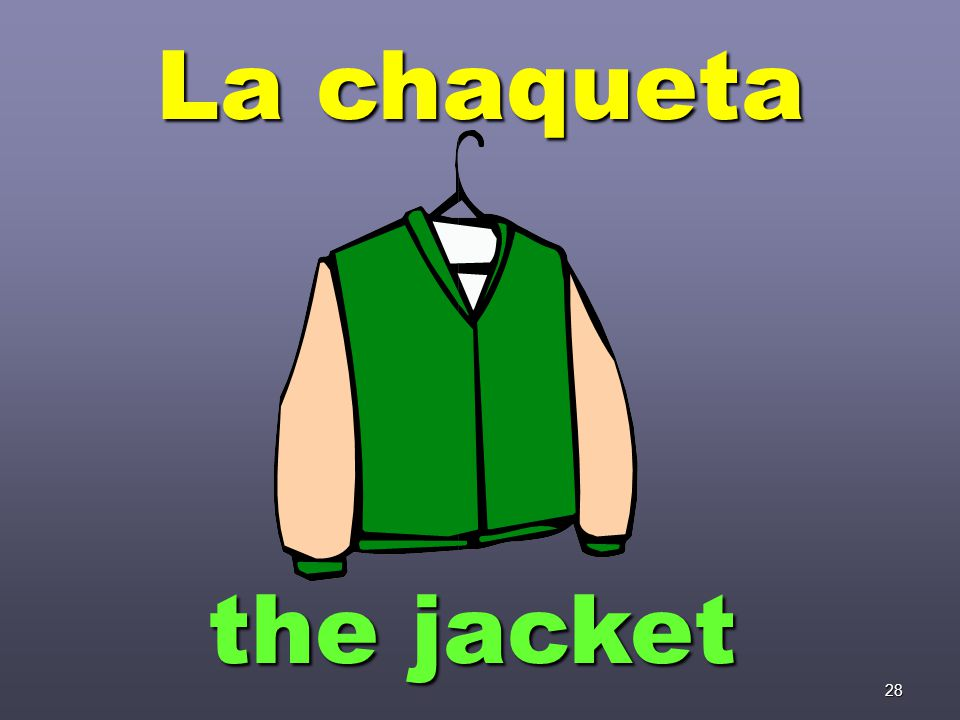 28 La chaqueta the jacket