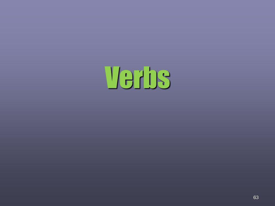 63 Verbs