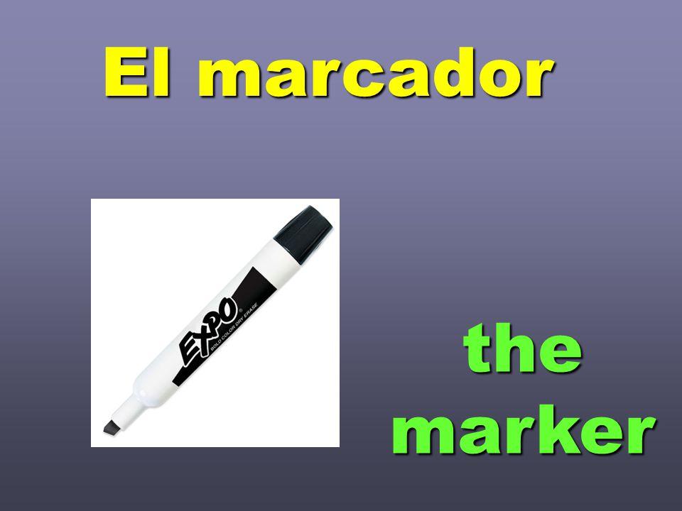 themarker El marcador