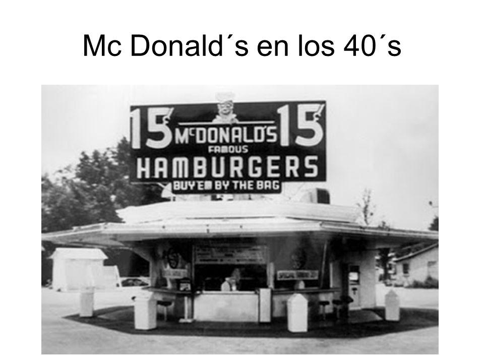 Mc Donald´s en los 40´s