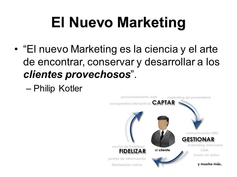 El Nuevo Marketing El nuevo Marketing es la ciencia y el arte de encontrar, conservar y desarrollar a los clientes provechosos .