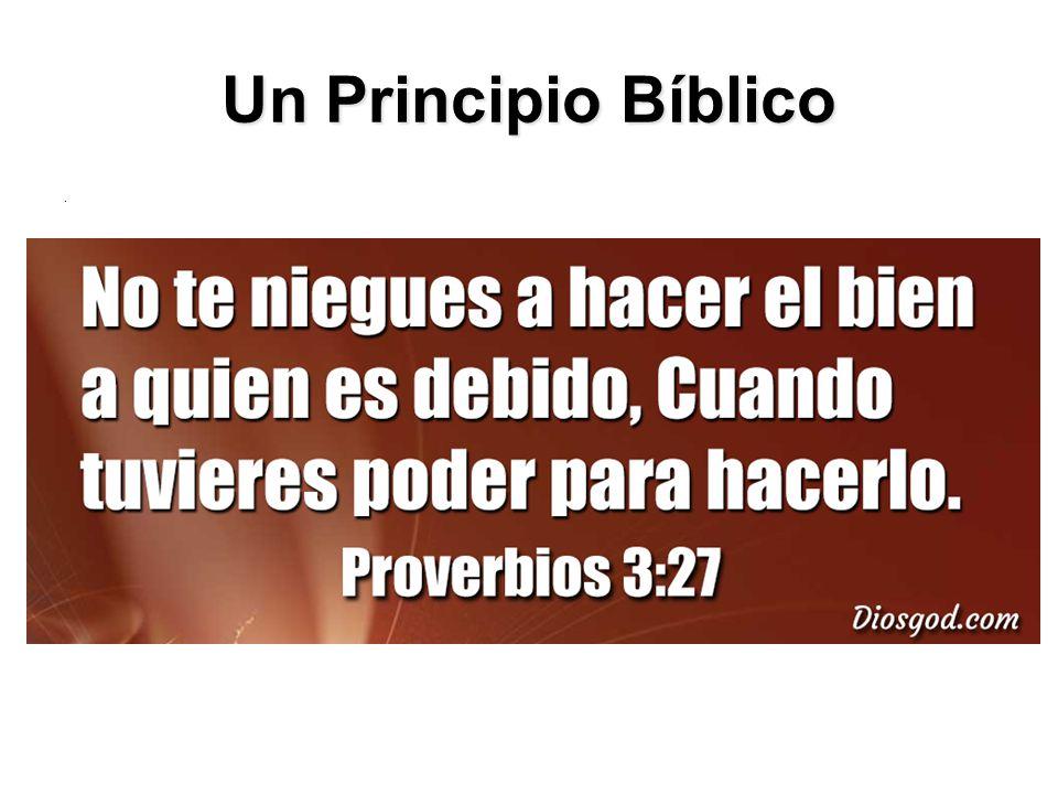 Un Principio Bíblico.