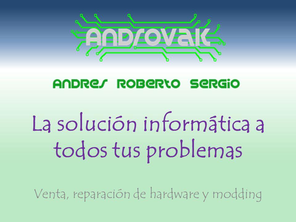 La solución informática a todos tus problemas Venta, reparación de hardware y modding