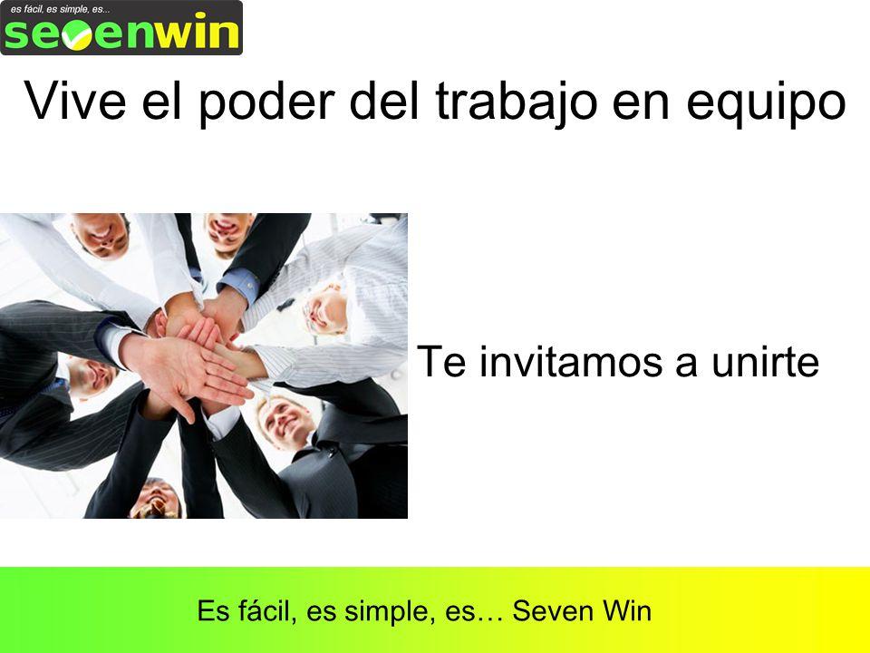 Vive el poder del trabajo en equipo Es fácil, es simple, es… Seven Win Te invitamos a unirte