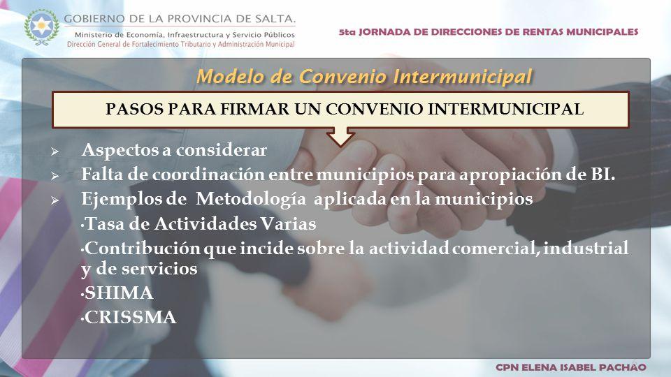  Aspectos a considerar  Falta de coordinación entre municipios para apropiación de BI.
