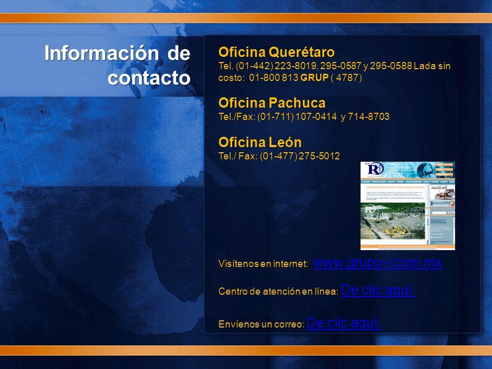 Información de contacto Oficina Querétaro Tel.