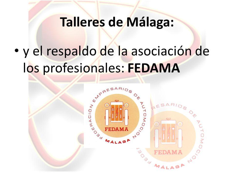 Talleres de Málaga: y el respaldo de la asociación de los profesionales: FEDAMA