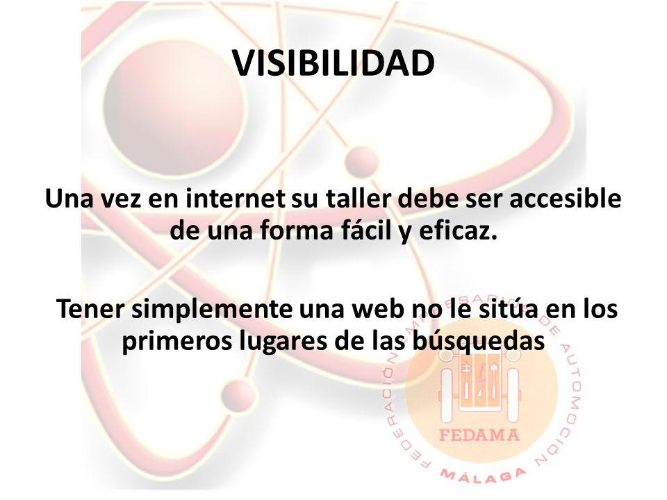 VISIBILIDAD Una vez en internet su taller debe ser accesible de una forma fácil y eficaz.