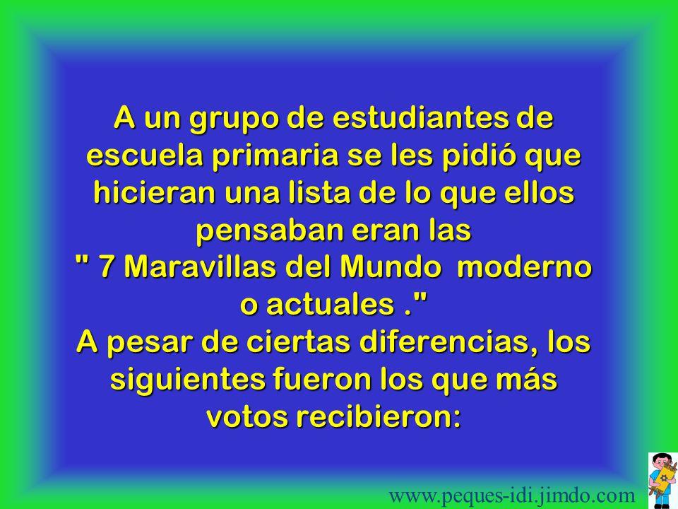 LAS SIETE MARAVILLAS DEL MUNDO www.peques-idi.jimdo.com