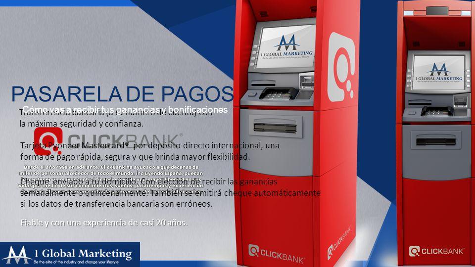 Your COmpany www.yourcompa ny.com PASARELA DE PAGOS Transferencia bancaria (a tu número de cuenta) con la máxima seguridad y confianza.