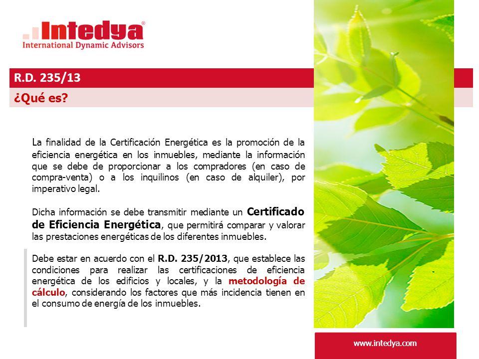 www.intedya.com R.D. 235/13 www.intedya.com ¿Qué es.