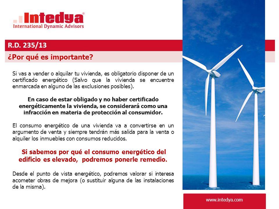 www.intedya.com R.D. 235/13 ¿Por qué es importante.