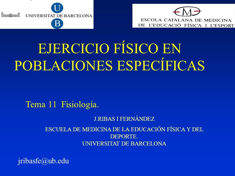 J.RIBAS I FERNÁNDEZ ESCUELA DE MEDICINA DE LA EDUCACIÓN FÍSICA Y DEL DEPORTE.