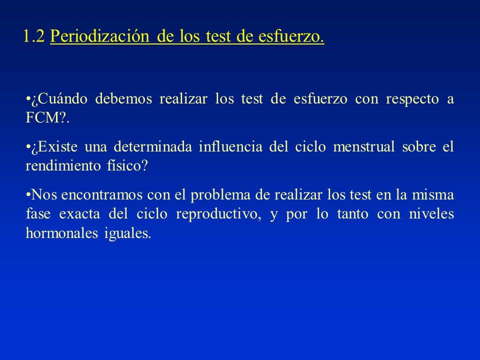 1.2 Periodización de los test de esfuerzo.